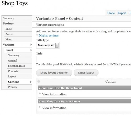 Creating the Shop Toys Page