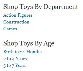 Shop Toys Page